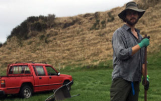 Brian Levine, PhD student at Massey University, installing a V-notch weir - See more at: http://www.sunlive.co.nz/news/151105-reducing-phosphorus-lake-rotorua.html#sthash.T1tGisDG.dpuf
